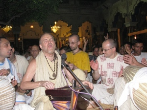 Aindra - established 24 hour kirtan in Vrndavana and around the world